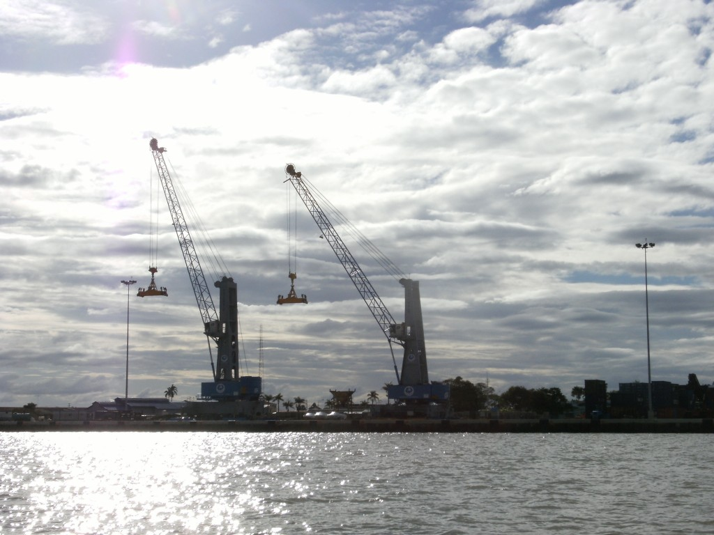 Cranes at Paramaribo harbor 2009.
